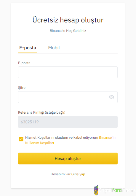how to register on binance